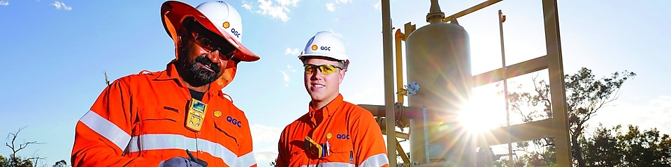 QGC Wellsite operators check well performance