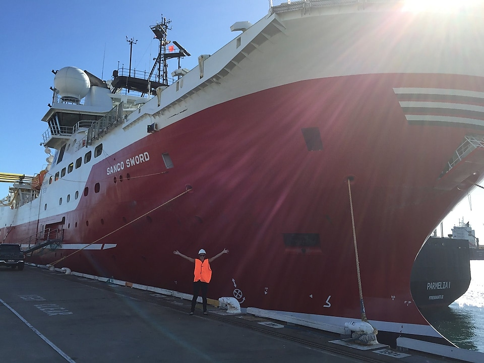 Danielle Poskus Front of Ship